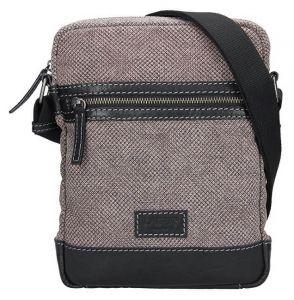 Lagen Pánská taška přes rameno 23306 Black/Beige mla0592