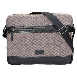 Lagen Pánská taška přes rameno 22406 Black/Beige mla0598