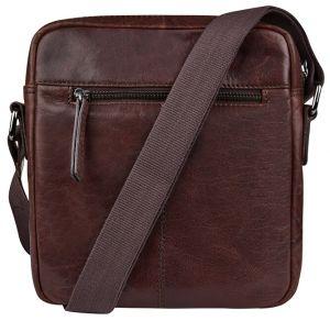 JustBag Pánská kožená taška 2206 Dark Brown mjb0069