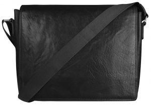 JustBag Pánská kožená taška 40036 Black mjb0070