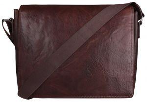 JustBag Pánská kožená taška 40036 Dark Brown mjb0071