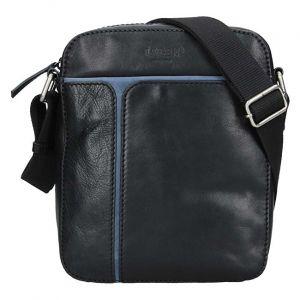 Lagen Pánská kožená taška 25919 Blk/Blue mla0647