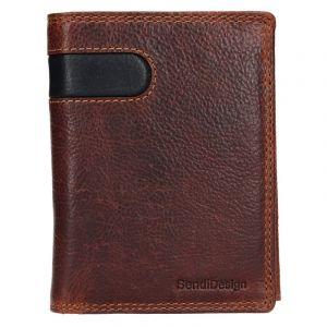 Pánská kožená peněženka SendiDesign Ulrich – hnědo-černá 17646
