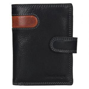 Pánská kožená peněženka SendiDesign Sebastian – černo-hnědá 17645
