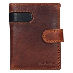 Pánská kožená peněženka SendiDesign Sebastian – hnědo-černá 17644