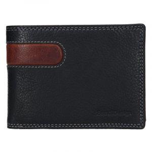 Pánská kožená peněženka SendiDesign Amarel – černo-hnědá 17643
