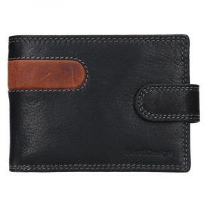 Pánská kožená peněženka SendiDesign Martin – černo-hnědá 17641
