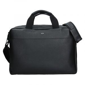 Luxusní pánská kožená taška Daag Bendr – černá 17579