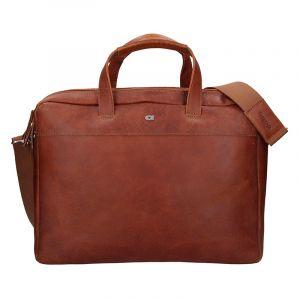 Luxusní pánská kožená taška Daag Bendr – hnědá 17578