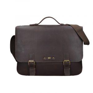 Pánská kožená taška Daag Woody – tmavě hnědá 17574
