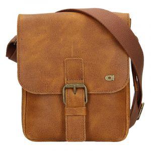 Pánská kožená taška Daag Mario – světle hnědá 17572