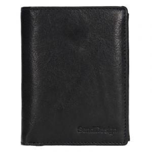 Pánská kožená peněženka SendiDesign Josef – černá 17560