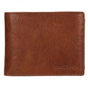 Pánská kožená peněženka SendiDesign Jaromír – koňak 17559