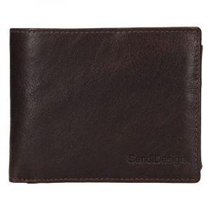 Pánská kožená peněženka SendiDesign Jaromír – hnědá 17558