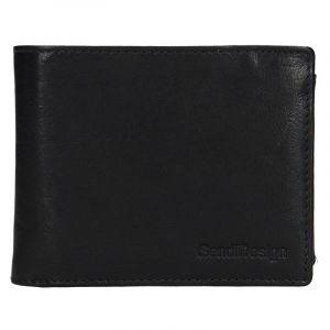 Pánská kožená peněženka SendiDesign Jaromír – černá 17557