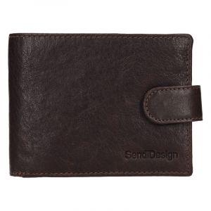 Pánská kožená peněženka SendiDesign Robert – hnědá 17555