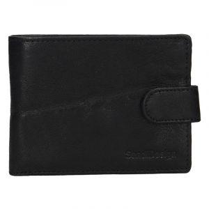 Pánská kožená peněženka SendiDesign Robert – černá 17454
