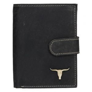Pánská kožená peněženka Wild Buffalo Kon – černá 17378