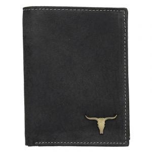 Pánská kožená peněženka Wild Buffalo Tom – černá 17375