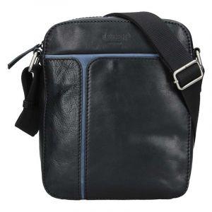 Pánská taška přes rameno Lagen Xerxes – černo-modrá 17191