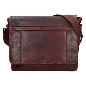 Pánská kožená taška přes rameno Lagen Brendon – hnědá 17146
