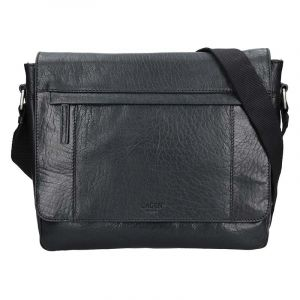 Pánská kožená taška přes rameno Lagen Brendon – černá 17145