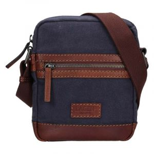Pánská taška přes rameno Lagen Albert – modro-hnědá 17139