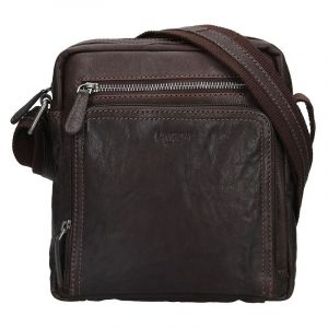 Pánská kožená taška přes rameno Lagen Čestmír – hnědá 16815