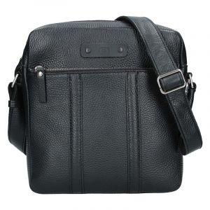 Pánská kožená taška Daag Agrel – černá 16801