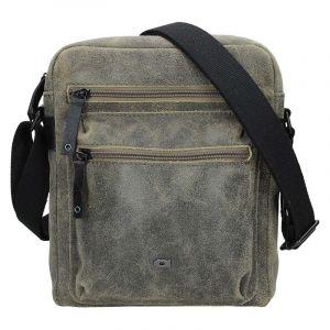 Pánská kožená taška Daag Moneto – zeleno-hnědá 16794