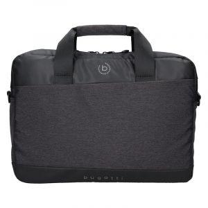 Pánská taška na notebook Bugatti Lopes – černo-šedá 16443