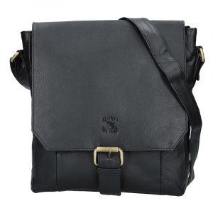 Pánská kožená taška Always Wild Wiliem – černá 16174
