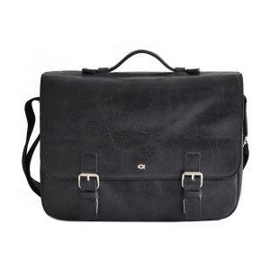 Pánská kožená taška Daag Wanted – černá 15997