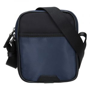 Pánská taška přes rameno Hexagona Bergh – černo-modrá 15969