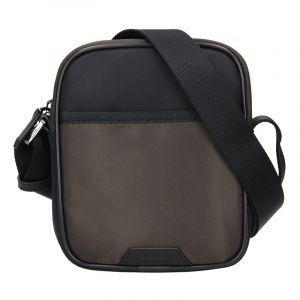 Pánská taška přes rameno Hexagona Bergh – černo-hnědá 15968