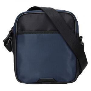 Pánská taška přes rameno Hexagona Moris – černo-modrá 15927