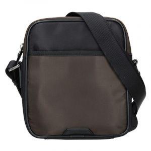 Pánská taška přes rameno Hexagona Moris – černo-hnědá 15926