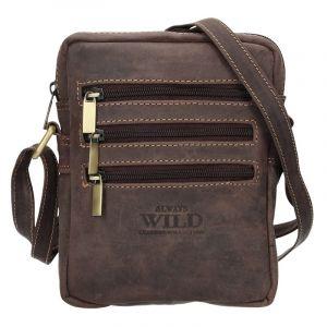 Pánská taška přes rameno Always Wild Emil – tmavě hnědá 15807