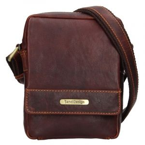 Pánská kožená taška přes rameno SendiDesign Morell – hnědá 15805