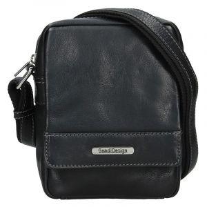 Pánská kožená taška přes rameno SendiDesign Morell – černá 15804