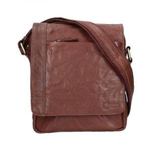 Pánská kožená taška přes rameno SendiDesign Apolon – tmavě hnědá 11037