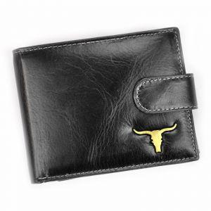 Pánská kožená peněženka Wild Buffalo Emils – černá 19489