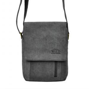 Pánská taška přes rameno Always Wild Janko – černo-šedá 19481