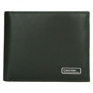 Pánská kožená peněženka Calvin Klein Bifol – zelená 19540