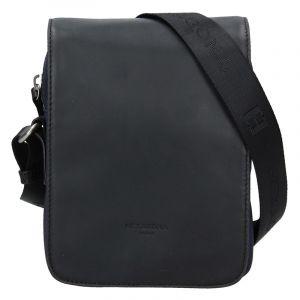 Pánská taška přes rameno Hexagona Renno – černo-modrá 17429