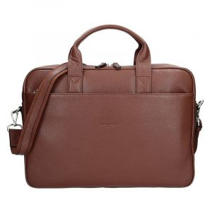 Pánská kožená taška přes rameno Hexagona Tango – hnědá 16118