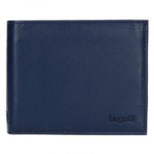 Pánská kožená peněženka Bugatti Sempre – modrá 1517