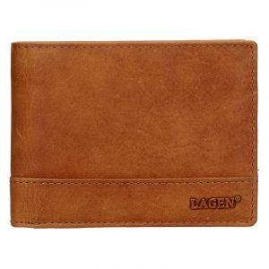 Pánská kožená peněženka Lagen Dusans – světle hnědá 19620