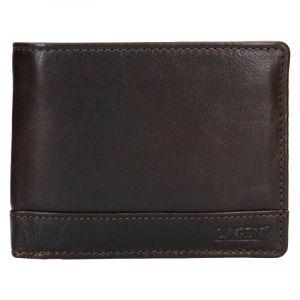 Pánská kožená peněženka Lagen Dusans – tmavě hnědá 19619