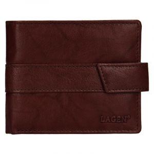 Pánská kožená peněženka Lagen Marian – hnědá 19614
